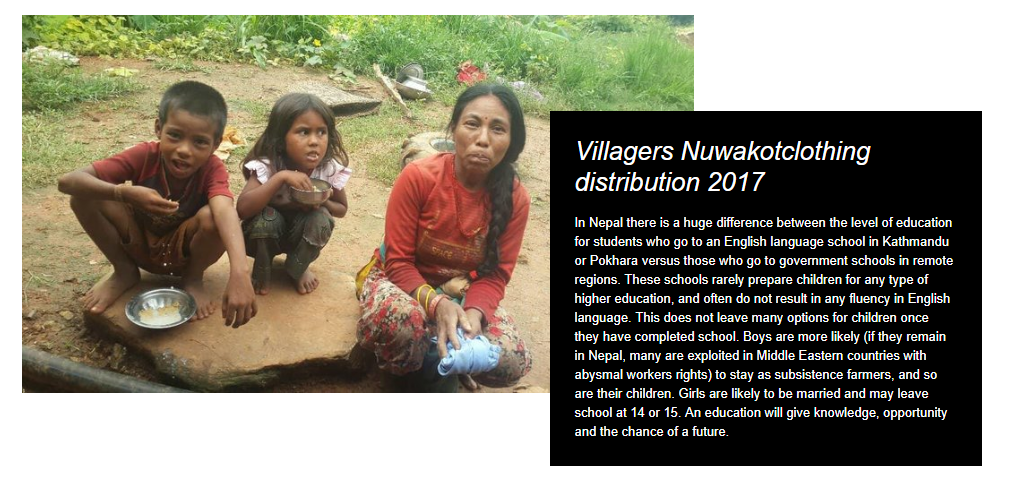 Villagers Nuwakotclothing distribution 2017