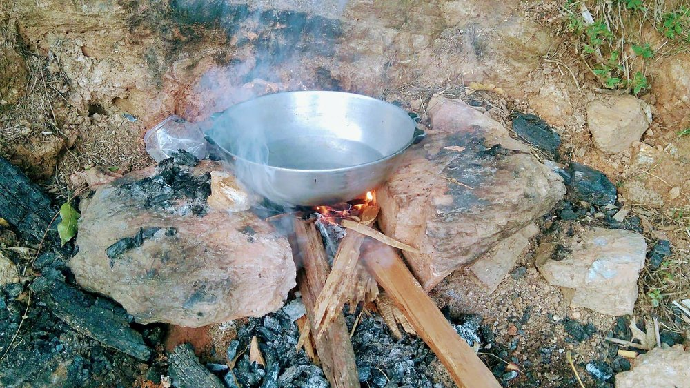 Woodfire camping, boiling up water for tea. You will live life like a real Nepali, experience village life to the full.